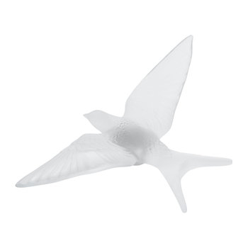 Hirondelles Swallow Wings Down Crystal Sculpture - Clear