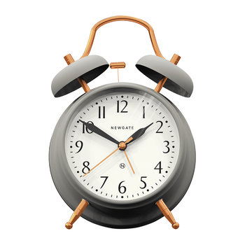 Brick Lane Alarm Clock - Grey/Copper
