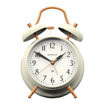 Brick Lane Alarm Clock - Linen White/Copper