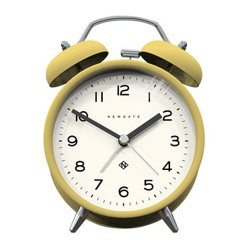 Charlie Bell Echo Alarm Clock - Matt Cheeky Yellow