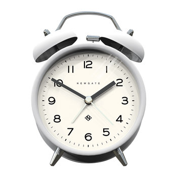 Charlie Bell Echo Alarm Clock - Matt Pebble White
