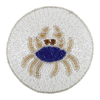 Set of 4 Coasters - Crab