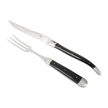 Carving Knife & Fork - Ebony Handle