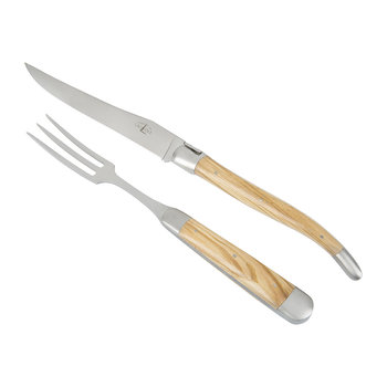Carving Knife & Fork - Olivewood Handle