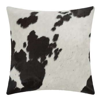 Large Speckling Cowhide Pillow - 45x45cm - Black/White