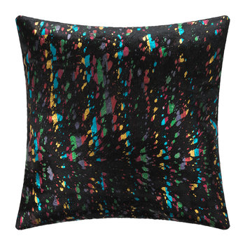 Metallic Acid Cowhide Cushion - 45x45cm - Multi