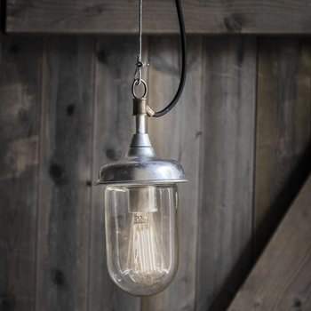 St Ives Harbour Outdoor Pendant Light - Galvanised Steel
