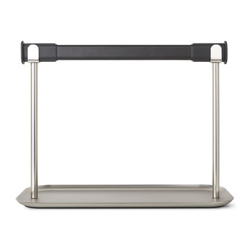 Limbo Kitchen Roll Holder & Tray - Black/Nickel