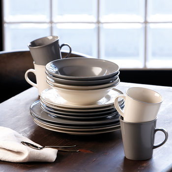 Gordon Ramsay Union Street Tableware Set - 12 Piece - Grey