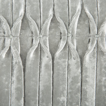 Veda Lined Eyelet Curtains - Silver