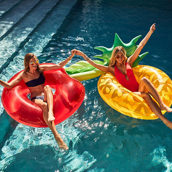 Inflatable Pineapple Pool Ring
