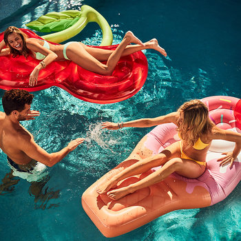 Luxe Lie-On Inflatable Cherry