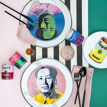 Andy Warhol Plate - Mao - Pink Jacket