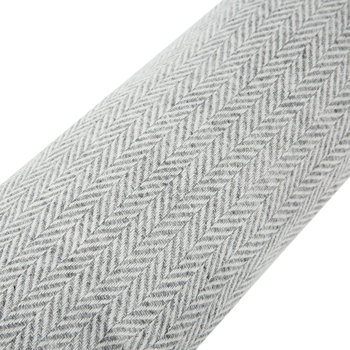 Tweed Draught Excluder - 16x80cm - Herringbone Silver Grey