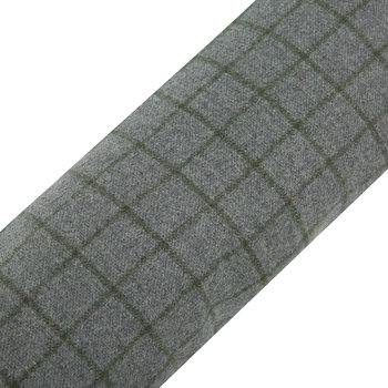 Tweed Draught Excluder - 16x80cm - Navy/Silver Check