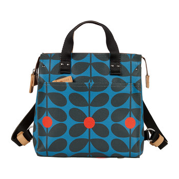 Sixties Stem Vinyl Small Backpack - Kingfisher