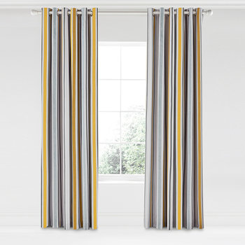 Lintu Lined Curtains - Dandelion & Pebble - 168x229cm