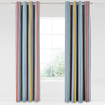 Pepino Lined Curtains - Ink - 168x229cm
