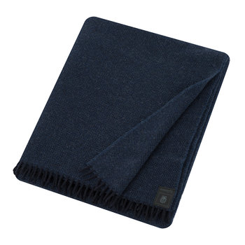 Must Relax Virgin Wool Blanket - 130x190cm - Navy