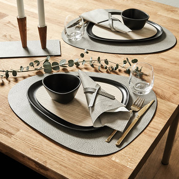 Hippo Curve Table Mat - Anthracite Grey