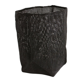 Tube Mesh Storage Basket - Black