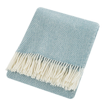 Beehive Wool Throw - Petrol