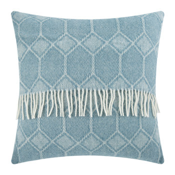 Churchpane Wool Pillow - 60x60cm - Petrol