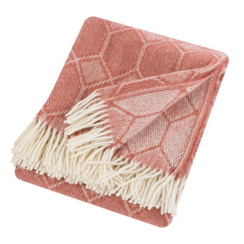 Churchpane Wool Throw - Cranberry