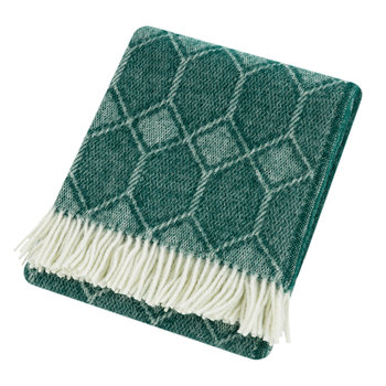 Churchpane Wool Throw - Emerald