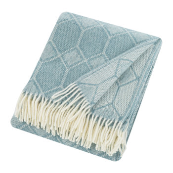 Churchpane Wool Throw - Petrol