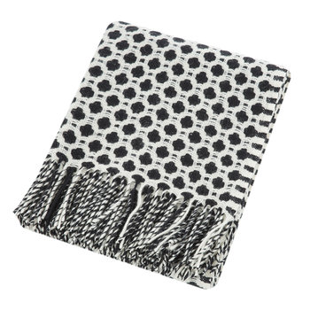 Crossroads Wool Throw - Black