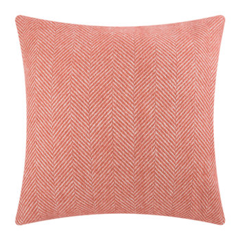 Fishbone Wool Cushion - 60x60cm - Cranberry