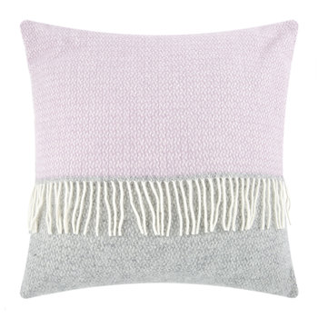 Illusion Panel Wool Pillow - 60x60cm - Gray/Lilac