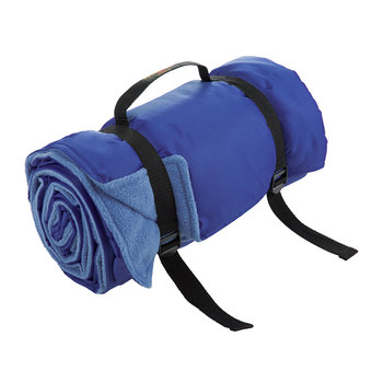 Rug Roll Fleece Picnic Blanket - China Blue/Royal Blue