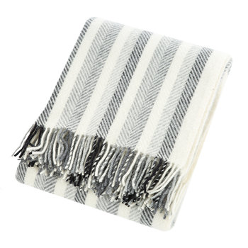 Stripes Wool Throw - Monochrome