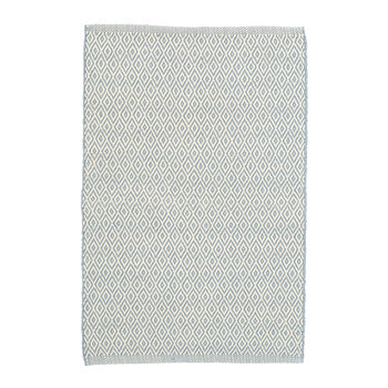 Crystal Indoor/Outdoor Rug - Blue/Ivory