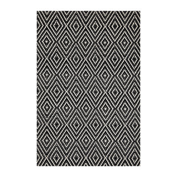 Diamond Indoor/Outdoor Rug - Black/Ivory