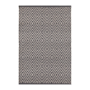 Diamond Indoor/Outdoor Rug - Graphite/Ivory