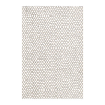 Diamond Indoor/Outdoor Rug - Platinum/White