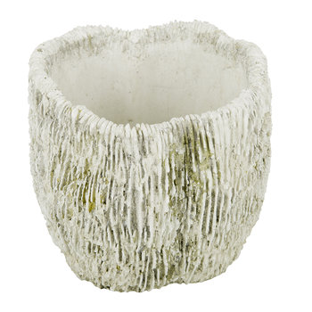 Ridged Coral Flower Pot