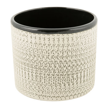 Textured Ceramic Flower Pot