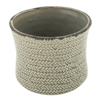 Weave Ceramic Flower Pot - Green