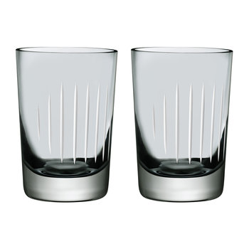 Parrot Water Glasses - Set of 2 - Grey/White
