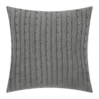 Cable Pillow Cover - 45x45cm - Charcoal