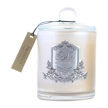 Gourmandise Silver Scented Candle - Prosecco - 450g