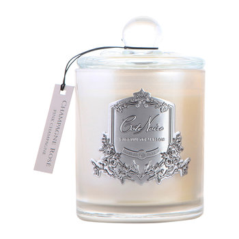 Gourmandise Silver Scented Candle - Pink Champagne - 450g