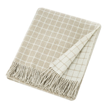 Athens Merino Lambswool Throw - Beige