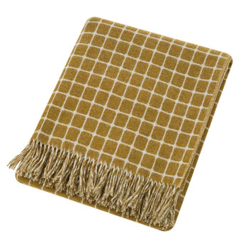 Athens Merino Lambswool Throw - Gold