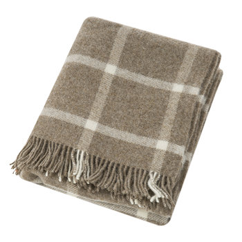 Natural Pure Wool Throw - Beige