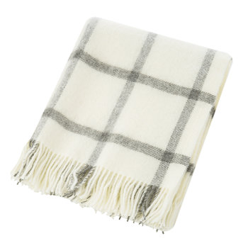 Natural Pure Wool Throw - Cream